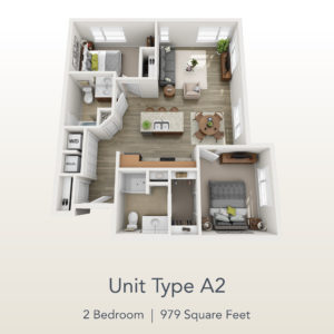 2 bedroom unit A2