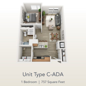 1 bedroom C-ADA