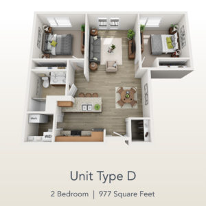 2 bedroom unit D